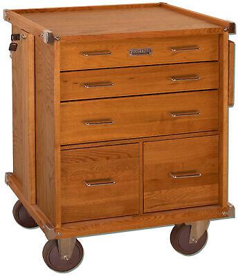 Gerstner International Oak 5-drawer Roller Cabinet With Ball Bearing Slides R-24