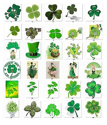 30 Personalized Return Address labels Clover St. Patrick's Buy 3 get 1 free -