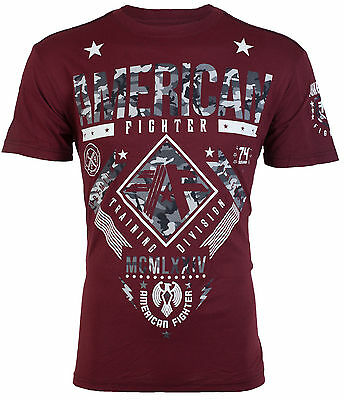 American Fighter Mens T Shirt Lander Athletic Burg Grey Camo Biker Gym Ufc  40