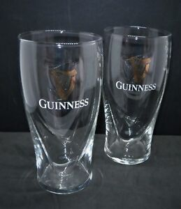 Set Of 2 Guinness Embossed Harp Pint Glasses 20oz Brand New 100% Genuine