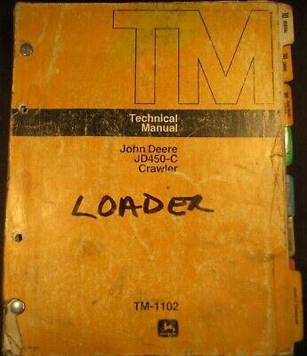 John Deere Jd450-c Crawler Tractors Loader Technical Service Manual