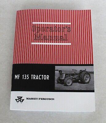 Massey Ferguson Mf 135 Tractor Operators Owners Manual Gas Diesel 1964-1975