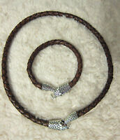 Men's 6mm Genuine Top Quality Braided Leather Cord Necklaces With Various Clasps - handmade - ebay.co.uk