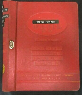 Massey Ferguson Binder Full of Old Parts Books & Manuals