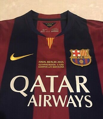 BARCELONA MESSI SOCCER JERSEY FINAL BERLIN 2015 vs JUVENTUS AMERICA MEXICO USA image