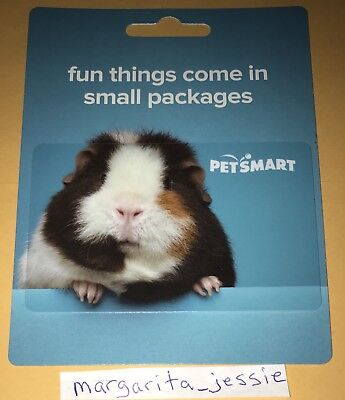 PETSMART GUINEA PIG COLLECTIBLE HANGER GIFT CARD NO VALUE NEW PET SMART