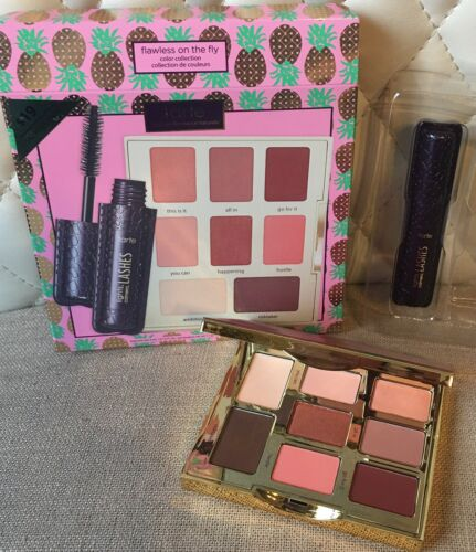 TARTE Flawless On The Fly Eyeshadow Palette Set w/ Lights Ca