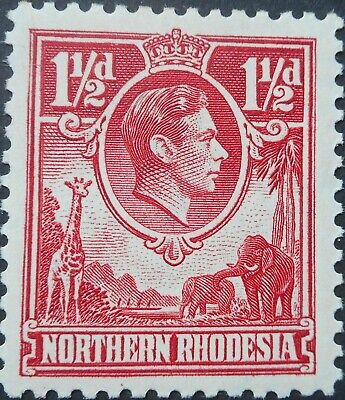 North Rhodesia 1938 GVI One and a HalfPence SG 29 mint
