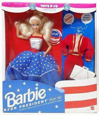 Barbie 1991 Toys R Us Limited Edition Barbie For President Gift Set No. 3722 NIB