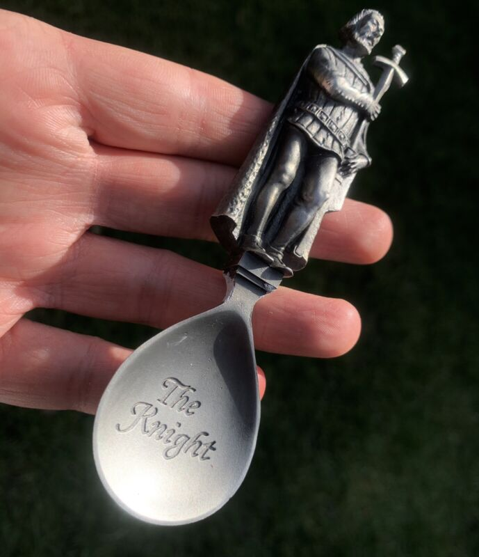 The Knight Pewter Caddy Spoon Apostle Spoon