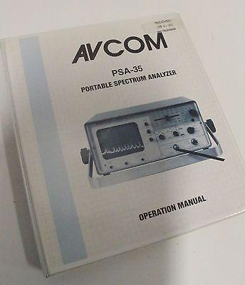 Avcom Psa-35 Portable Spectrum Analyzer Operation User Manual