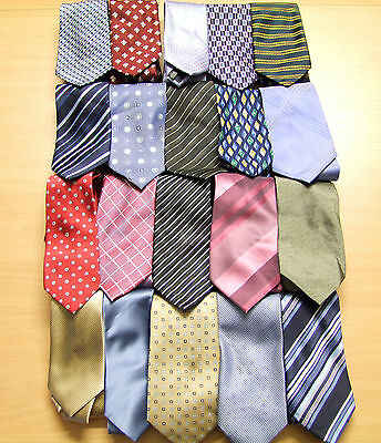 Wholesale Clearance Pack Of 20 Men's High Street Branded Ties Excellent Conditio