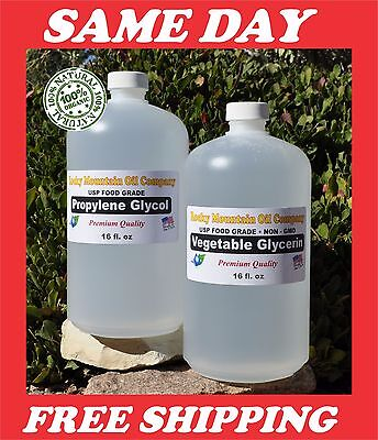 2  16 Oz Vegetable Glycerin   Propylene Glycol Food Grade Pg Vg