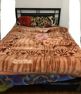 Double bed frame along with Mattress