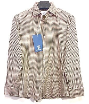 Red Gingham Check (MIZZEN + MAIN Mens Green Red Gingham Check Button Long Sleeve Shirt (MSRP)