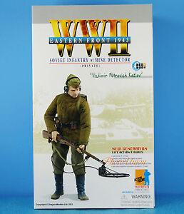 DRAGON 1:6 FIGURE WW2 Soviet Russia Infantry Soldier Army Mine Detector 70810