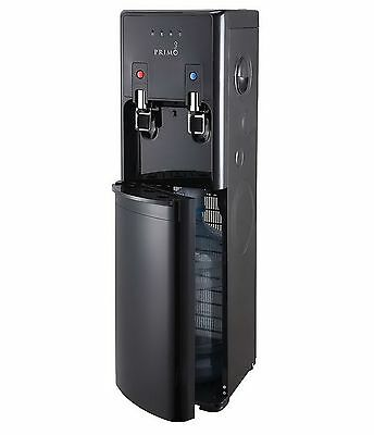 New Hot Cold Water Dispenser Black 5 Gallon Capacity Bottom Load Stainless Tanks