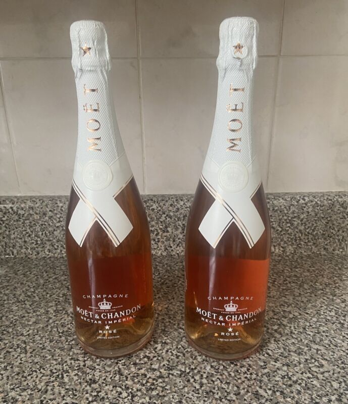 Moet Chandon Nectar Imperial Rose Virgil Abloh Off White LE 750ml SET OF TWO