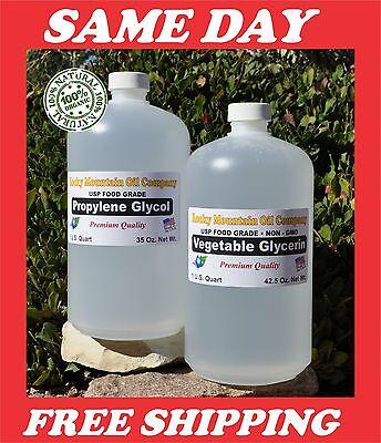 2 Quart Non Gmo Vegetable Glycerin   Propylene Glycol Usp Food Grade Pg Vg