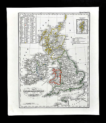 c.1848 Glaser Atlas Map  Great Britain & Ireland - England Wales Scotland London
