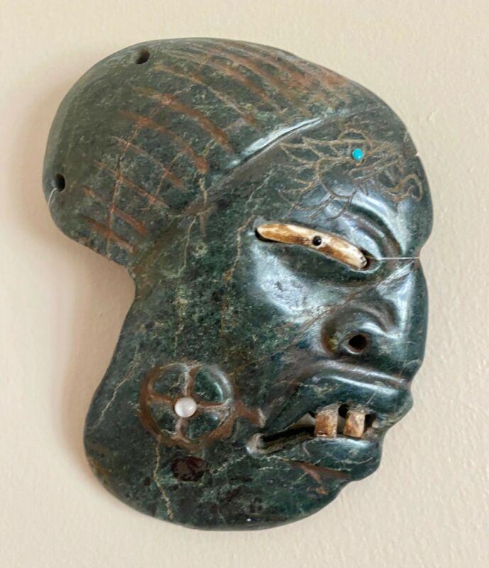 Pre-Columbian - Olmec - Jade Face Pectoral