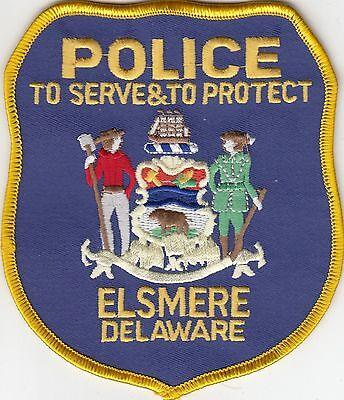 ELSMERE POLICE SHOULDER PATCH DELAWARE DE