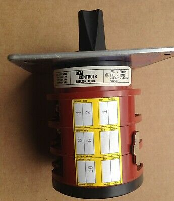 Oem Controls Rotary Switch Vn503s226-ul E54165