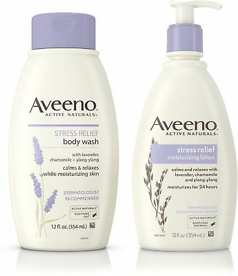 AVEENO Stress Relief Body Wash With Lavender, Chamomile & Yl