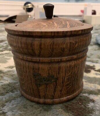vintage wooden tea caddy