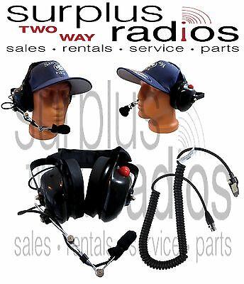 Dual Muff Headset For Kenwood Nx-5400 Nx-5300 Nx-5400 Nx-210 Nx-410 Nx-411