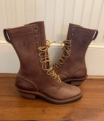 Hathorn ranch packer leather lace up boots NWOT, Mens 7A Womens 8.5A Heavy Duty!