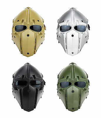 Tactical Airsoft Paintball Helmet And Mask 2in1Protective Gear Full Face HL91