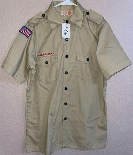 BSA Khaki Youth Short Sleeve Shirt Size X-Large Used 1_F66