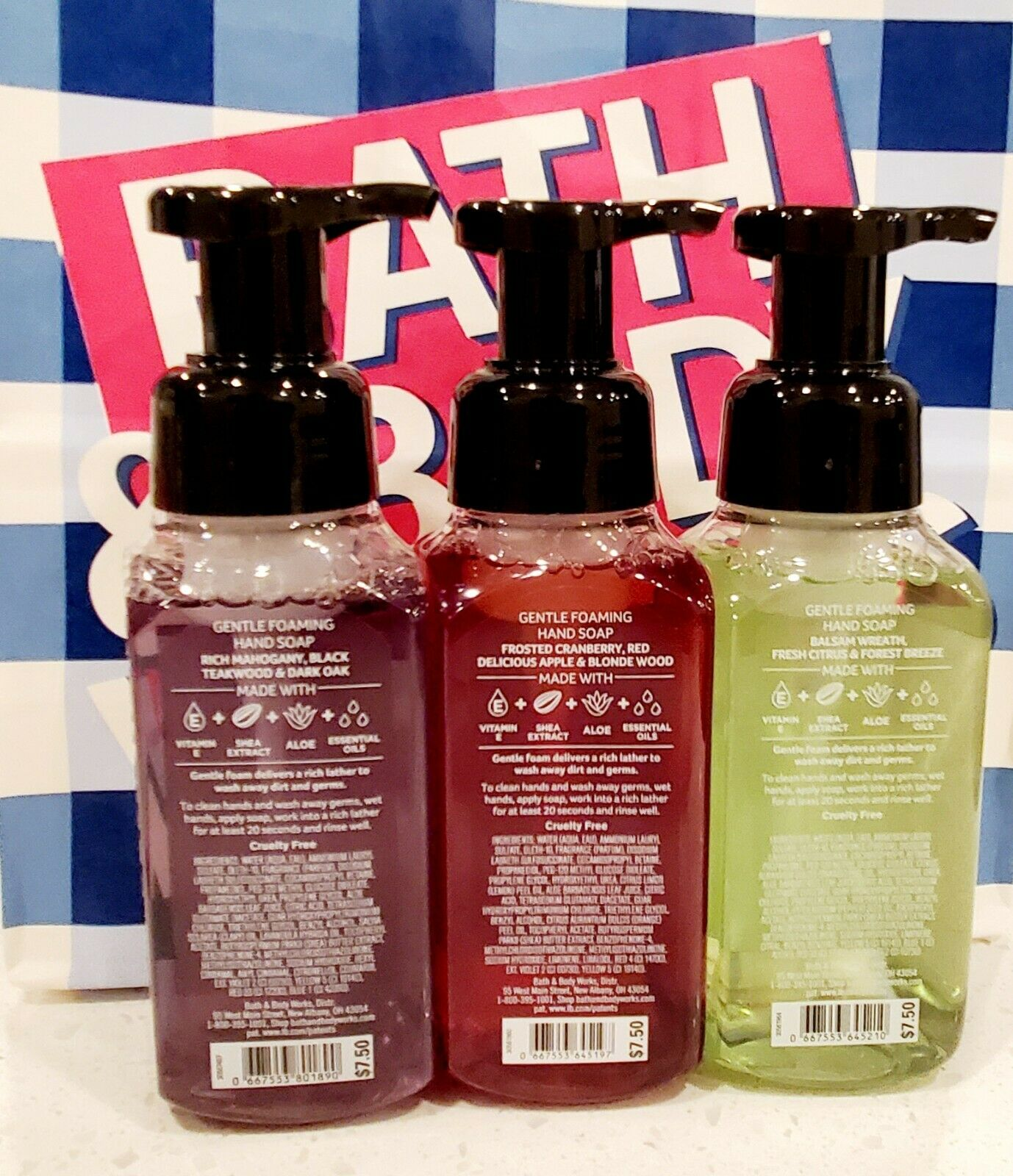 Bath Body Works White Barn Gentle Foaming Hand Soap 8.75 Oz,3 CT, NEW - $26.99