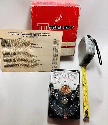 Triplett Model 310-c Ibm Vom Analog Multimeter 3024 Vintage Great Shape