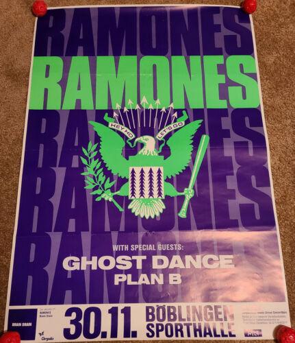 Ramones Concert Tour Poster 1989 RARE