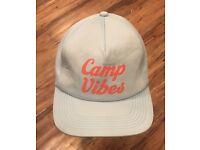 POLER Camp Vibes 70/'s foamy Trucker Hat NEW lightweight blue snapback cap-$28
