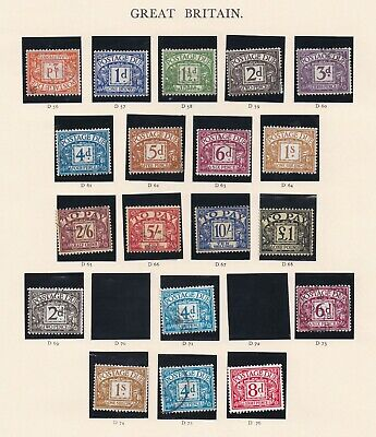 Lot:39001  GB Postage Due part sets from D1.