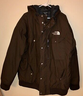 Mens The NORTH FACE Brown Gotham Goose Down Hooded Parka Jacket 2XL XXL