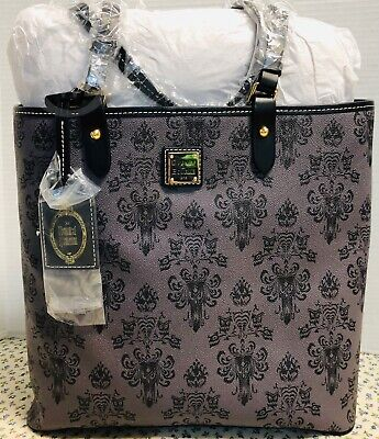 NWT*Dooney & Bourke*Disney*Haunted Mansion Wallpaper*Pamela*Satchel#19114M S80