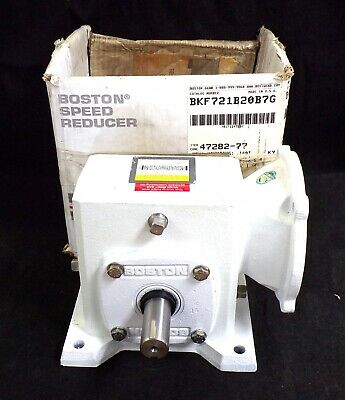 Boston Right Angle Worm Gear Speed Reducer Bkf-721b20b7g 201 1750 Rpm