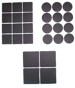 28 Pc Rubber Anti Skid Furniture Floor Pads Self Adhesive Scratch Protection