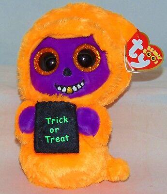 2017 Ty Beanie Boos Halloween SKELTON the orange/purple Reaper 6