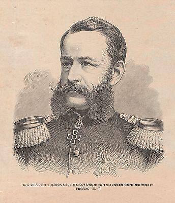 Generalleutnant Alfred von Fabrice HOLZSTICH v. 1871 Deutsch-Französischer Krieg