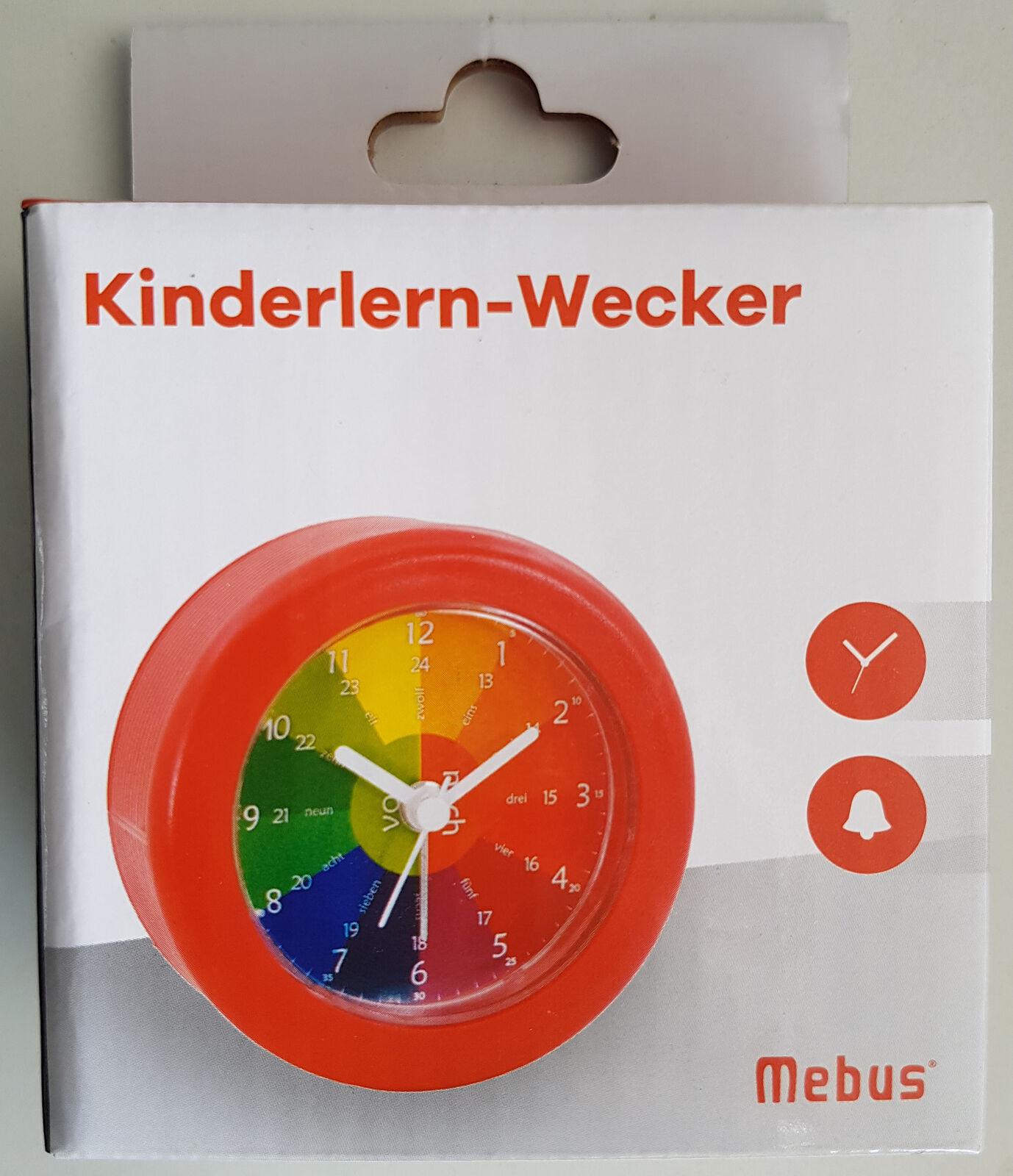 Mebus Kinderuhr Kinderlern-Wecker Uhr lernen Kinder Wecker Quarzuhrwerk NEU OVP