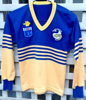 Parramatta Eels Vintage 80's Kids Football Jersey