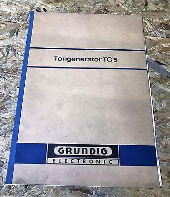 Gebrauchsanleitung  für Grundig Tongenerator TG 5