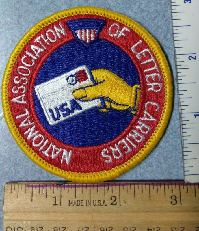 NALC National Association of Letter Carriers Mailman Patch USPS