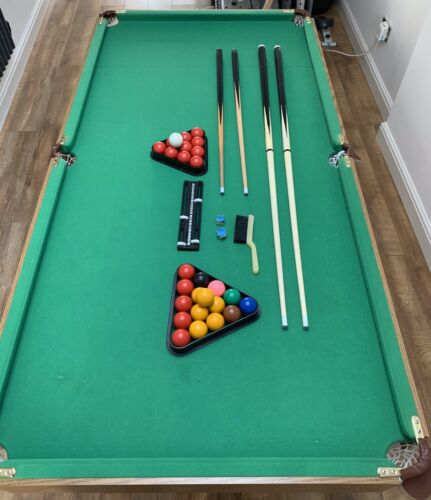 6 X 3 Foot Snooker And Pool Table