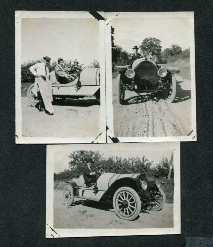 Vintage Car Photos Men w/ circa 1910 Mystery Speedster 387154
